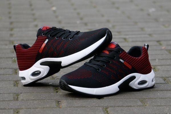 メンズ スニーカー ランニングシューズ フィットネス ウォーキング 通気性 スポーツ カジュアル 靴 メッシュ 【27cm】【赤】 ②_画像5