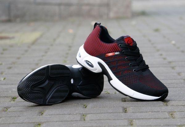 メンズ スニーカー ランニングシューズ フィットネス ウォーキング 通気性 スポーツ カジュアル 靴 メッシュ 【27cm】【赤】 ②_画像3