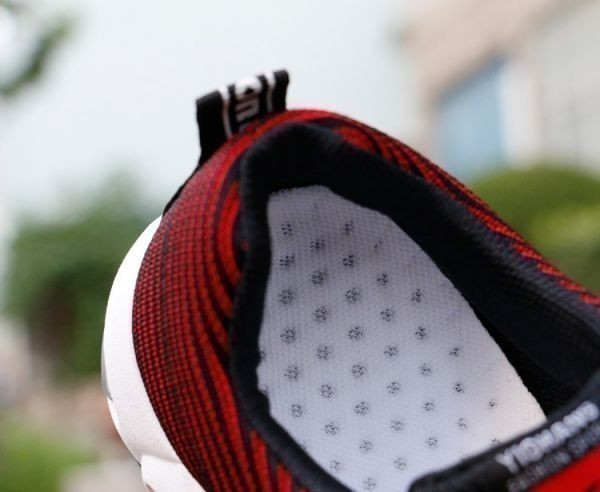 メンズ スニーカー ランニングシューズ フィットネス ウォーキング 通気性 スポーツ カジュアル 靴 メッシュ 【27cm】【赤】 ②_画像2