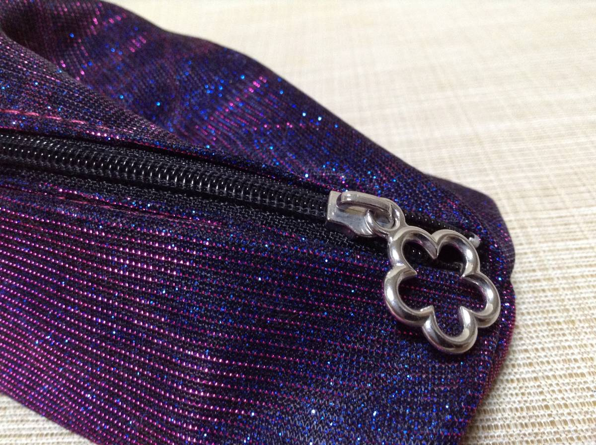 CARAVAN ペンケース(?) ラメ入りパープル×ブルー(紫×青) キャラバン 筆箱,ふでばこ,ポーチ,小物入れ_画像8