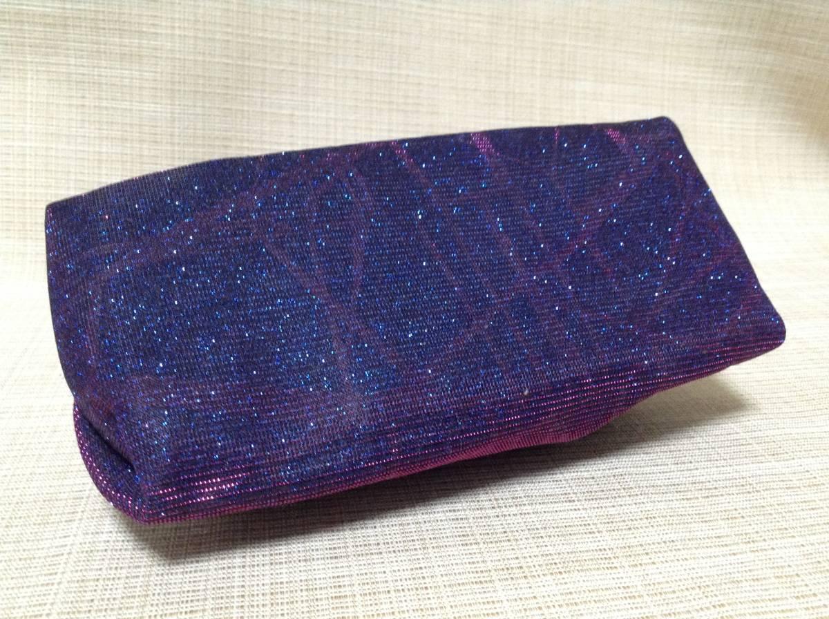 CARAVAN ペンケース(?) ラメ入りパープル×ブルー(紫×青) キャラバン 筆箱,ふでばこ,ポーチ,小物入れ_画像5