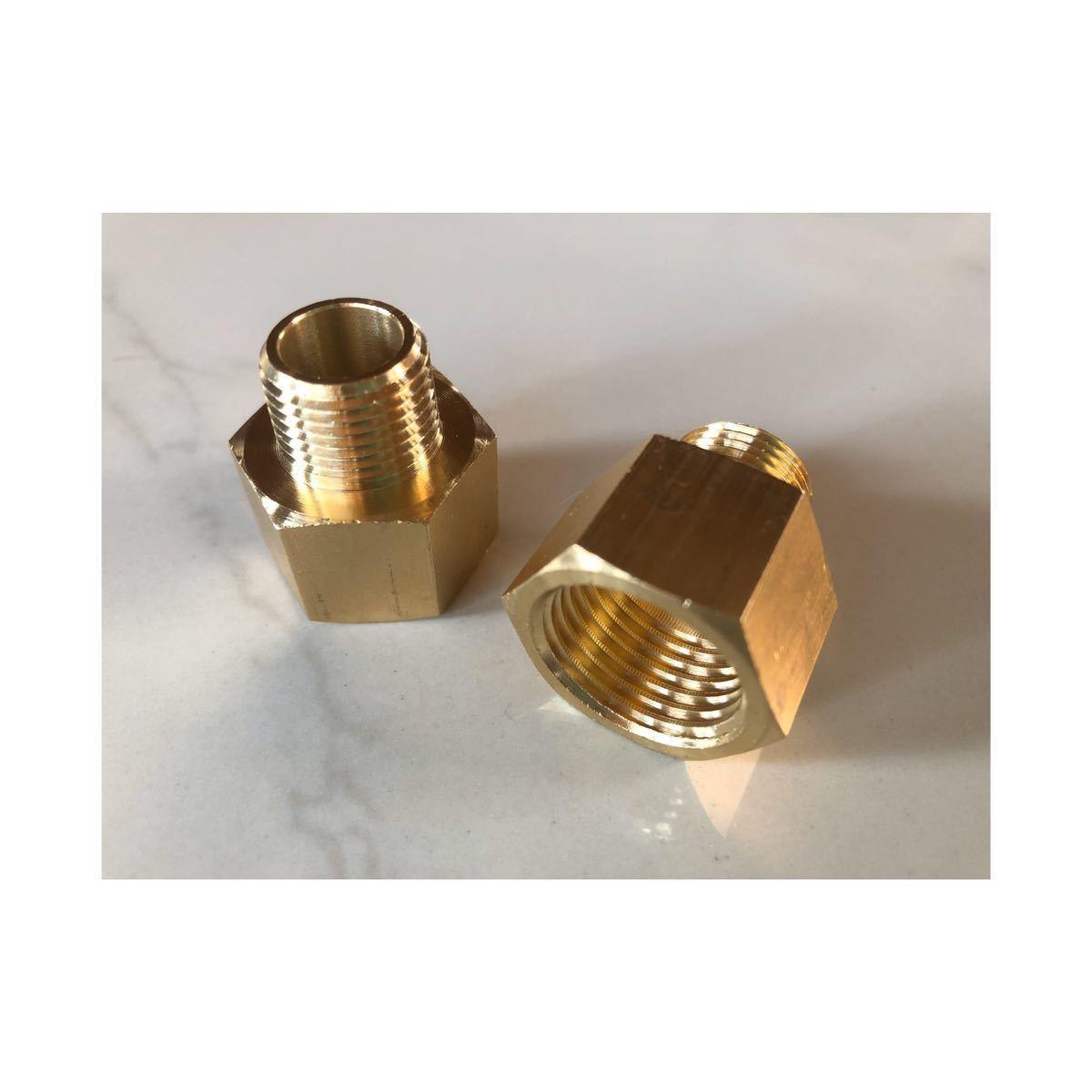 新品KOHLER、GROHE水栓用アダプター (日本仕様への継手)G3/8→1/2 水栓末端ナット内径約16mmに適合_画像1