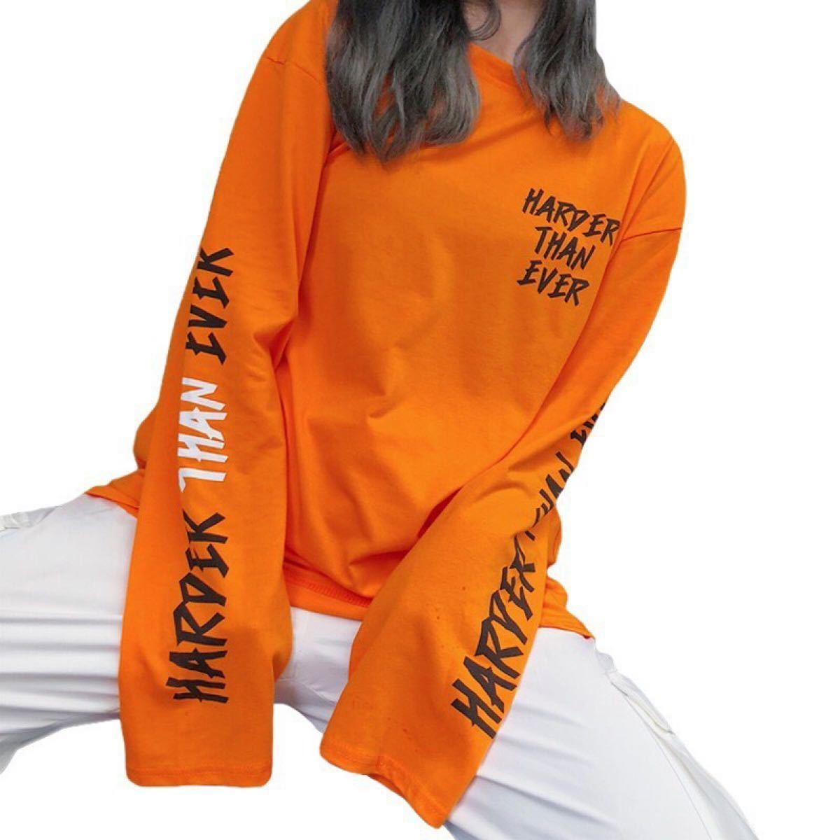 ロングTシャツ 新品未使用 大人気 男女兼用 ロンT ダンス
