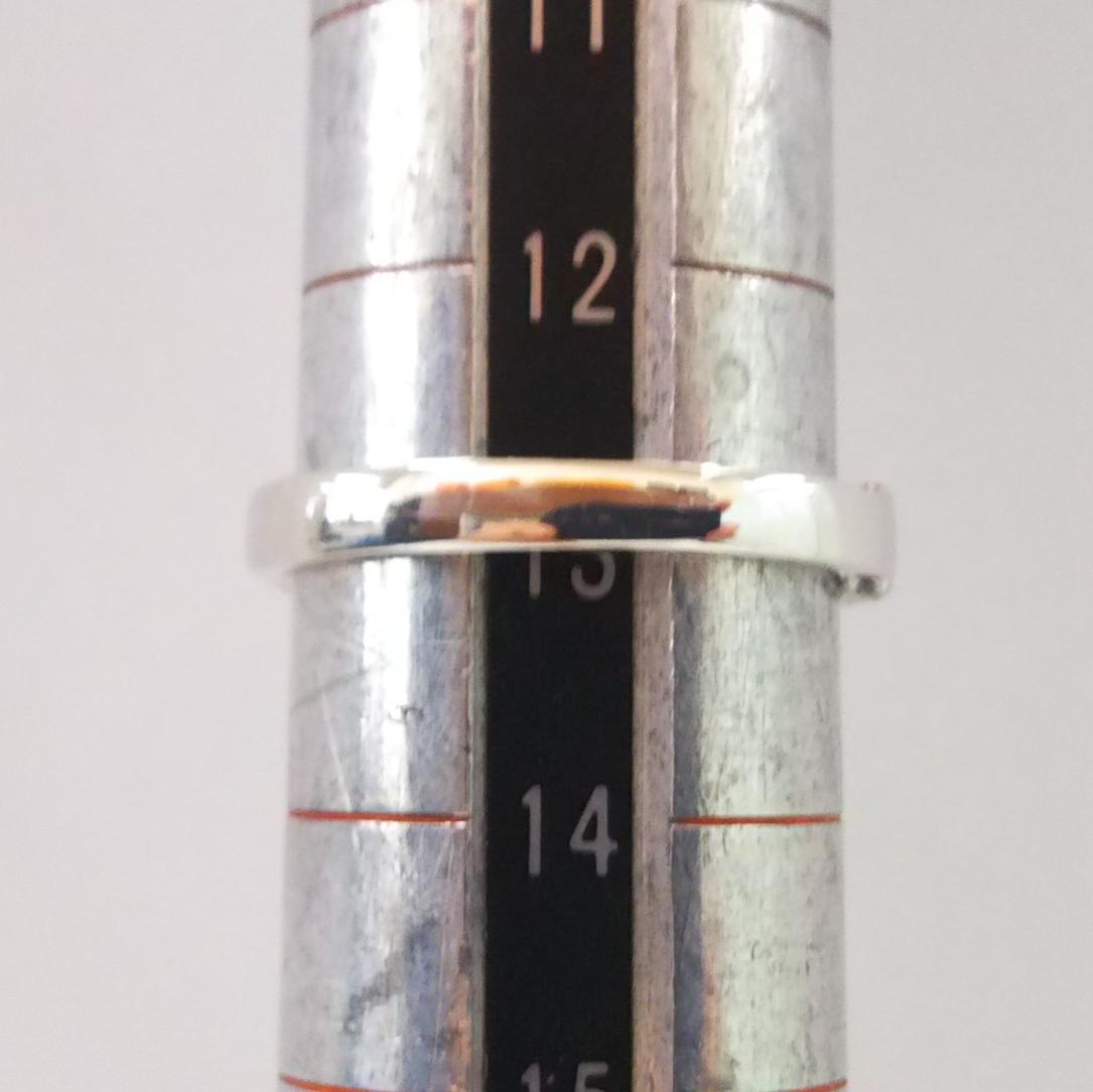 総重量約3.9g K18WG リング 指輪 ダイヤ0.30ct シンプル サイドエタニティ サイズ約13号_画像6