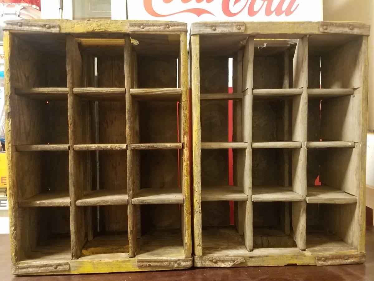 コカコーラ/Coca-Cola/ホームサイズ/昭和レトロ/ドリンクケース/木箱/当時物_画像7