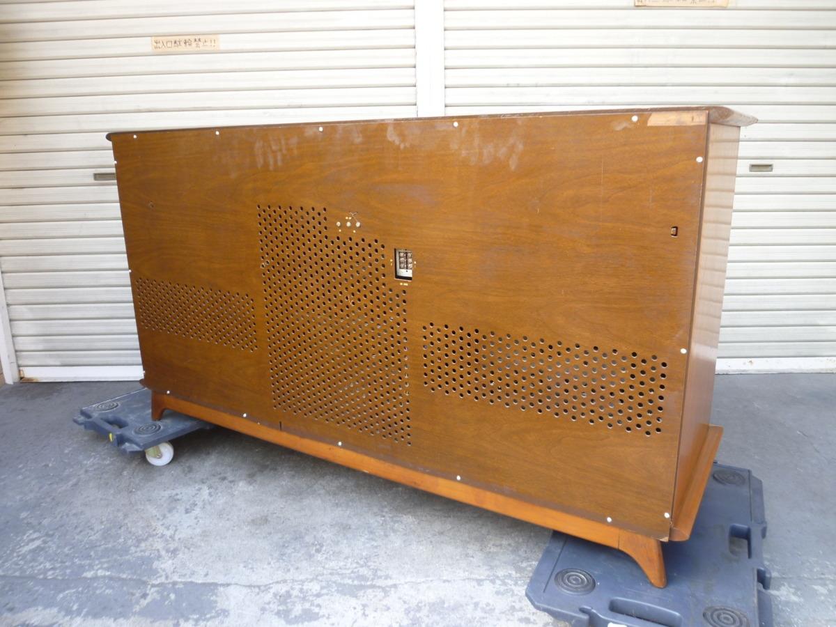 ◎ 極希少 magnificent The Magnavox CONCERT GRAND MODEL 1ST801 L ステレオ コンソール 蓄音機 電蓄 真空管 重量級 米国製 ◎_画像3