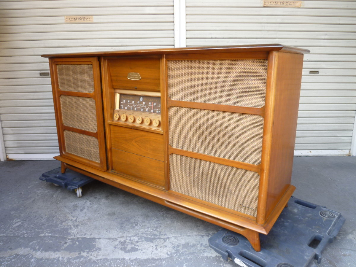 ◎ 極希少 magnificent The Magnavox CONCERT GRAND MODEL 1ST801 L ステレオ コンソール 蓄音機 電蓄 真空管 重量級 米国製 ◎_画像1