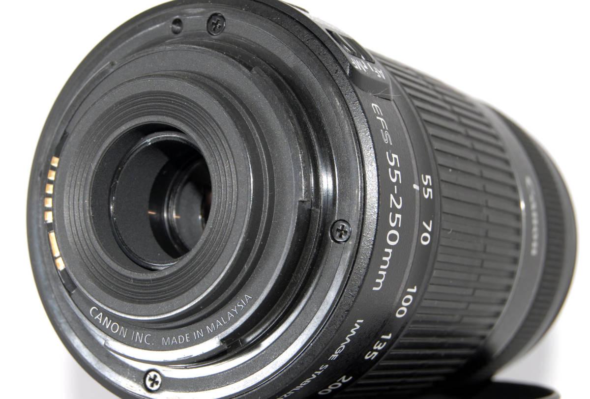 ◆新品同格品&初心者入门◆ Canon キャノン EF-S 55-250mm F4-5.6 IS 付属品多数有り