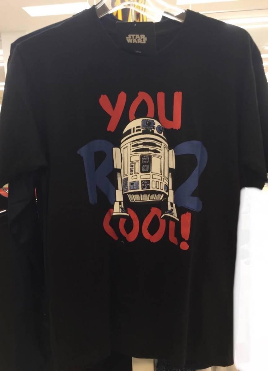 新品 黒 cool R2-D2 スターウォーズ Tシャツ メンズ レディース ダンス ルームウェア star wars pmpr ディズニー disney
