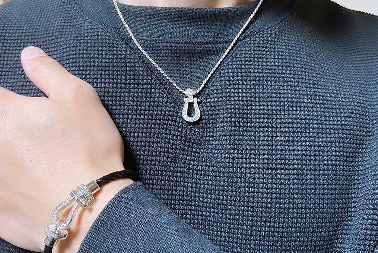 [最高品質] フォース ネックレス 18金 18kgp sv925 シルバー925 馬の蹄 5Acz ダイヤモンド 幸運 フレッドではありません_画像6