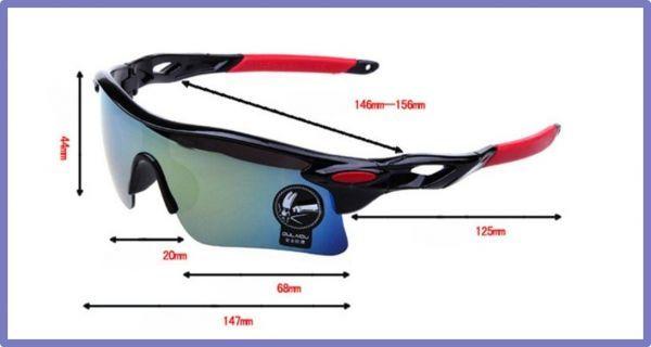 スポーツサングラス アウトドア 白×赤 ミラーレンズ UV400 軽量 フィット