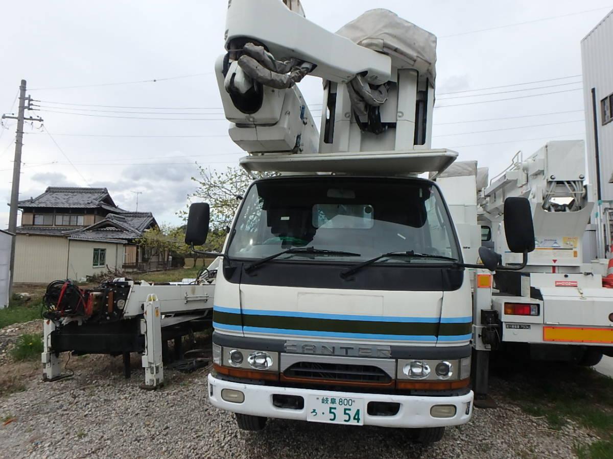 「アイチ高所作業車 電力仕様 14.5m多関節ウインチ付 キャンター 車検付 現状販売」の画像2