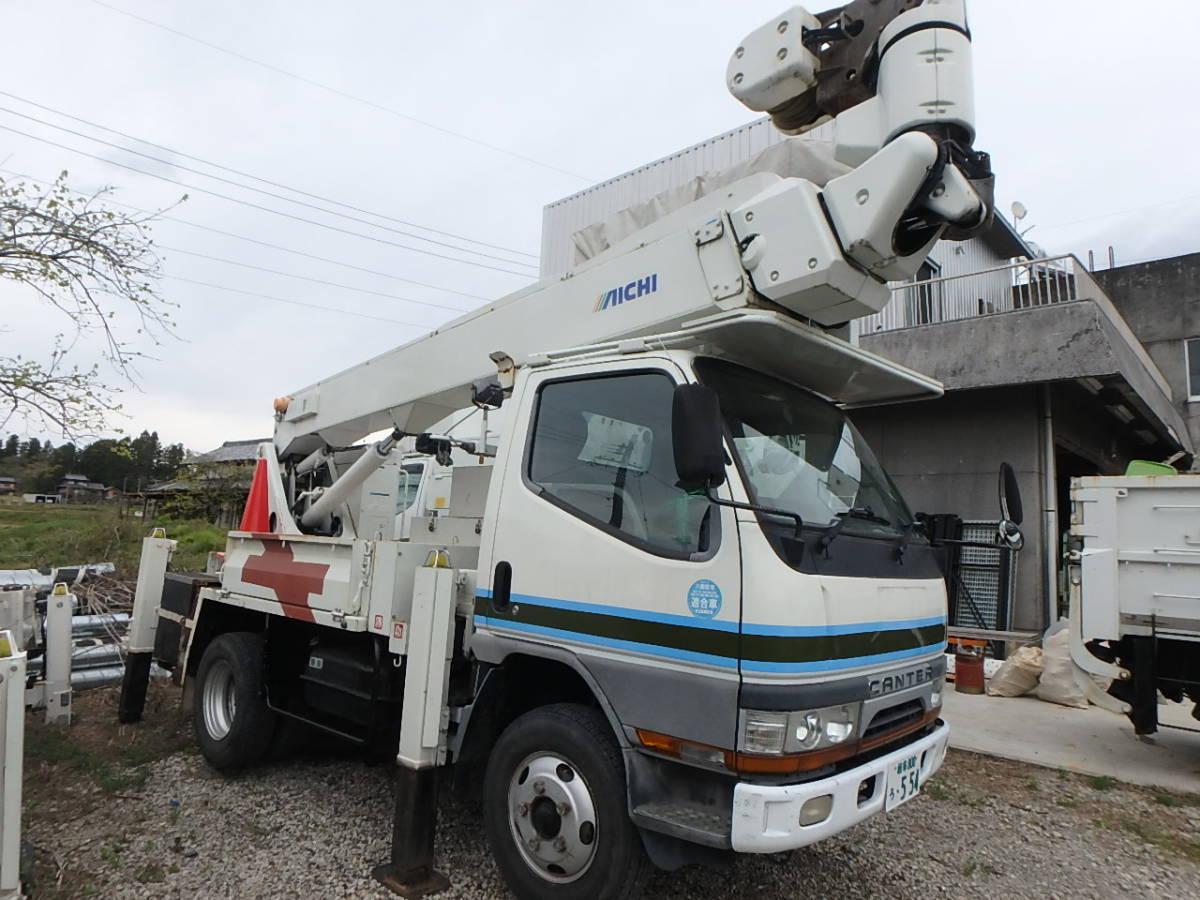 「アイチ高所作業車 電力仕様 14.5m多関節ウインチ付 キャンター 車検付 現状販売」の画像1
