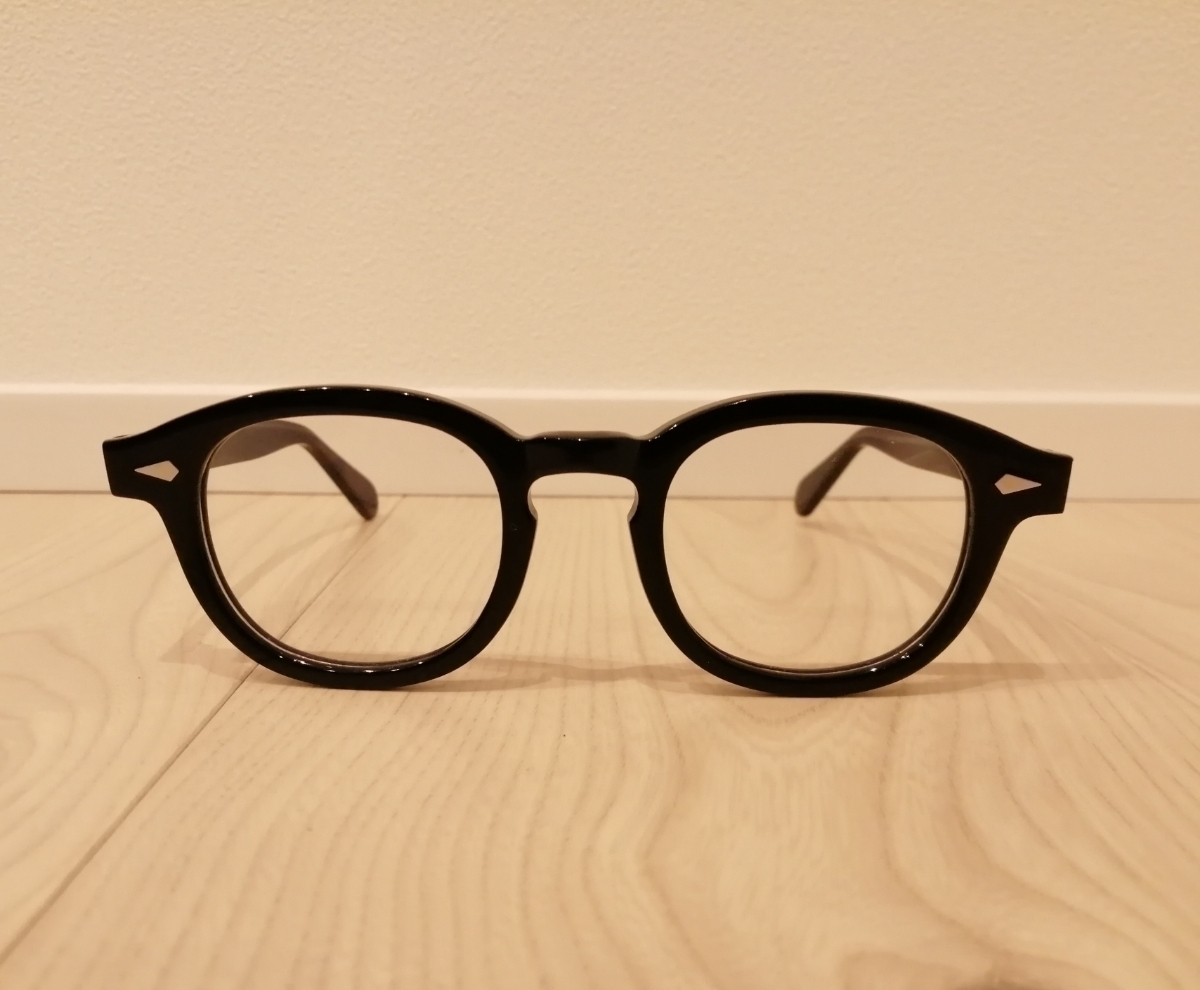 TART OPTICAL ARNEL型 ウエリトン黒縁メガネ サングラス 46サイズ ブラックカラー ノーブランド品/ モスコット タートオプティカル