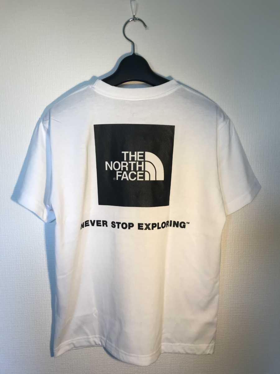 新品 THE NORTH FACE XLサイズトレッキング アウトドア 半袖Tシャツ S/S Square Logo Tee NT31957 W ノースフェイスTシャツ