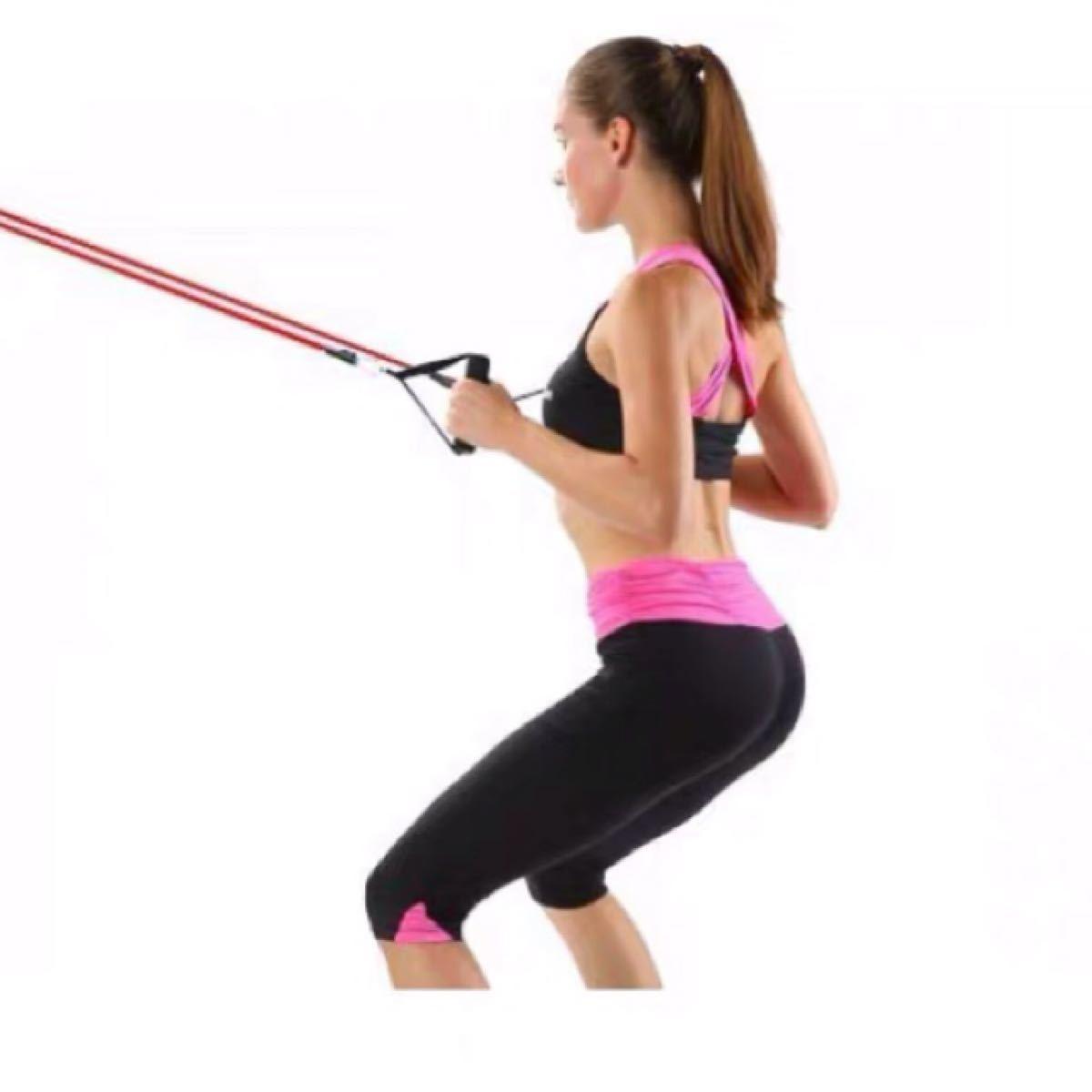 エクササイズ トレーニングチューブ 筋トレ ダイエット ストレッチ フィットネス
