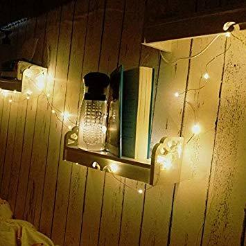 銅線ウォームホワイト LED イルミネーションライト 2パックLEDストリングスライト 100球 10m 8種光るパターン 電池_画像2