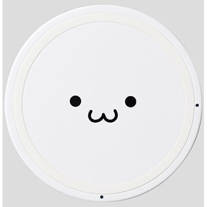 エレコム ELECOM W-QA03WF [Qi規格対応ワイヤレス充電器 5W 薄型 卓上 ホワイトフェイス]_画像2