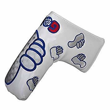 白 パターカバー ヘッドカバー ピンタイプ スコッティーキャメロン オデッセイに適合 磁石タイプ開閉 GoodJob刺繍 .ピン_画像1