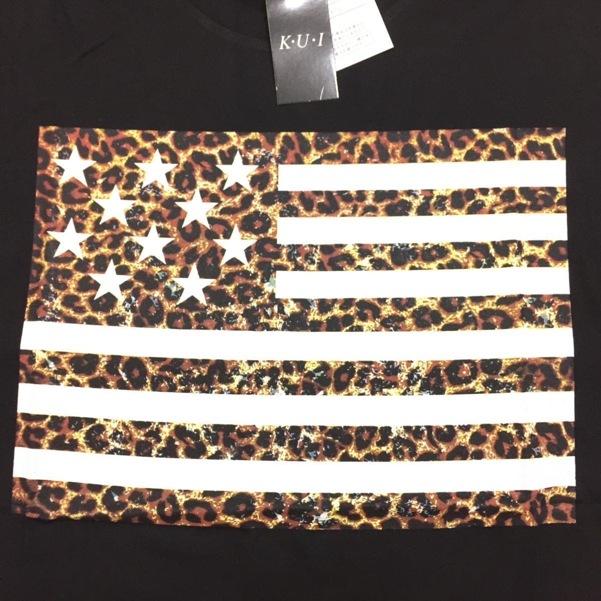 【卸売り】2枚セット メーカー希望小売価格¥3,190 新品 レオパード ヒョウ柄 星条旗 Tシャツ Lサイズ アメカジ ビター系_画像8