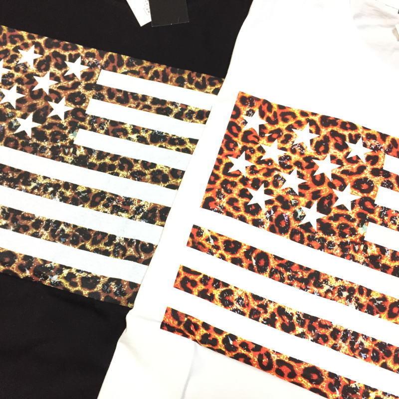 【卸売り】2枚セット メーカー希望小売価格¥3,190 新品 レオパード ヒョウ柄 星条旗 Tシャツ Lサイズ アメカジ ビター系_画像2