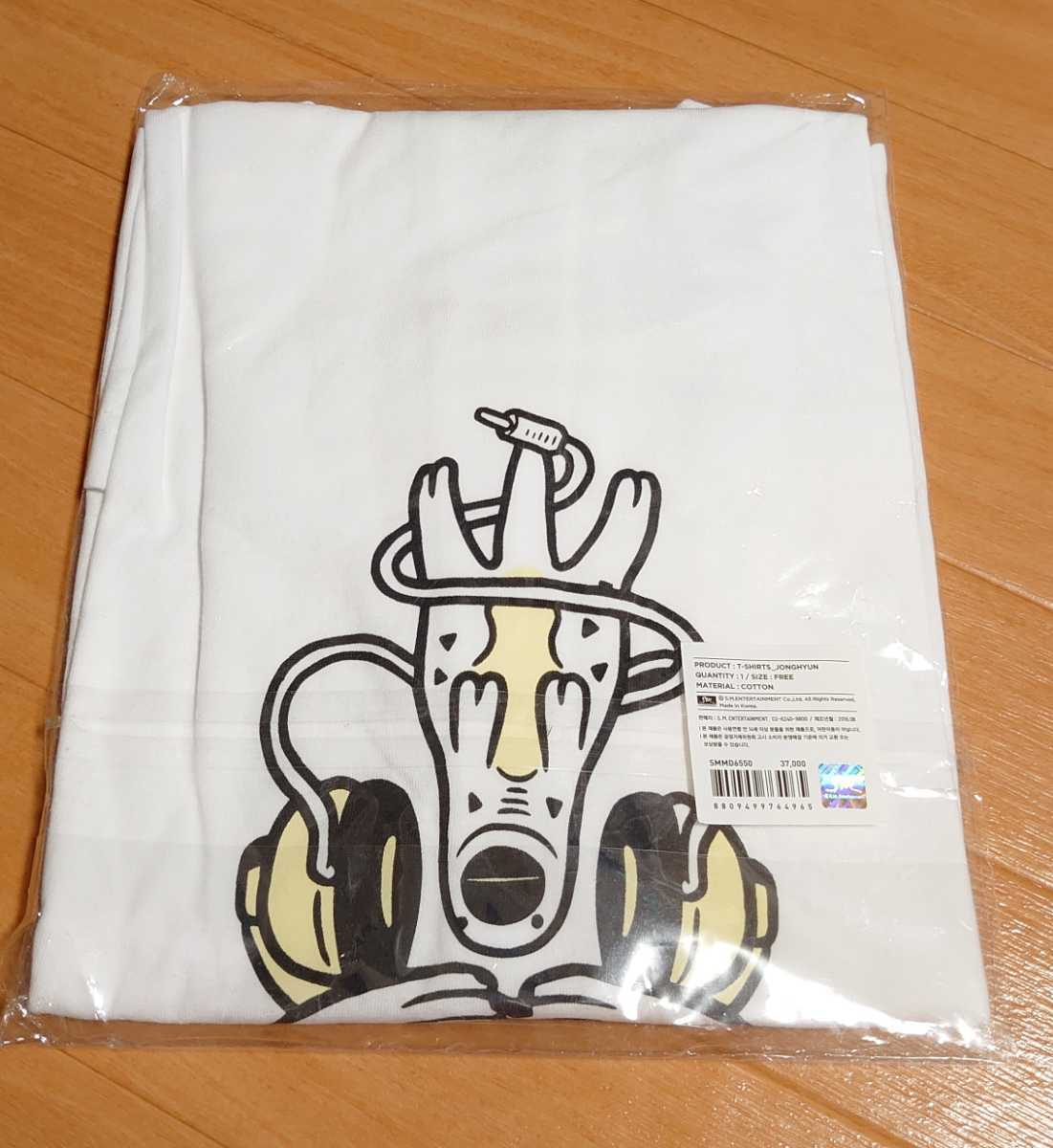 SHINee WORLD V 公式 Tシャツ【ジョンヒョン/JONGHYUN】新品未開封 フリーサイズ 韓国_画像2