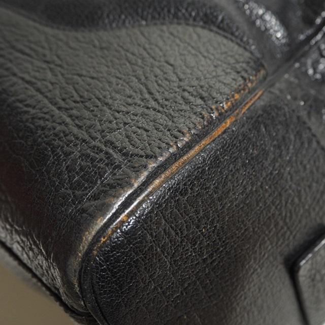 E8677P ▼JIL SANDER ジルサンダー▼ ショルダー付き レザー ボストンバッグ ブラック / レザーバッグ 黒 メンズ rb_画像7