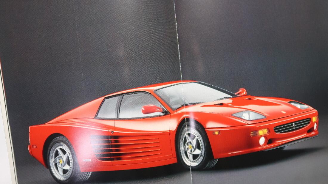 絶版 輸入車カタログ Ferrari F512M/フェラーリ F512M/4,943cc/440PS/1994-1995年モデル(1994年頃発行 テスタロッサ 512TR)_画像1