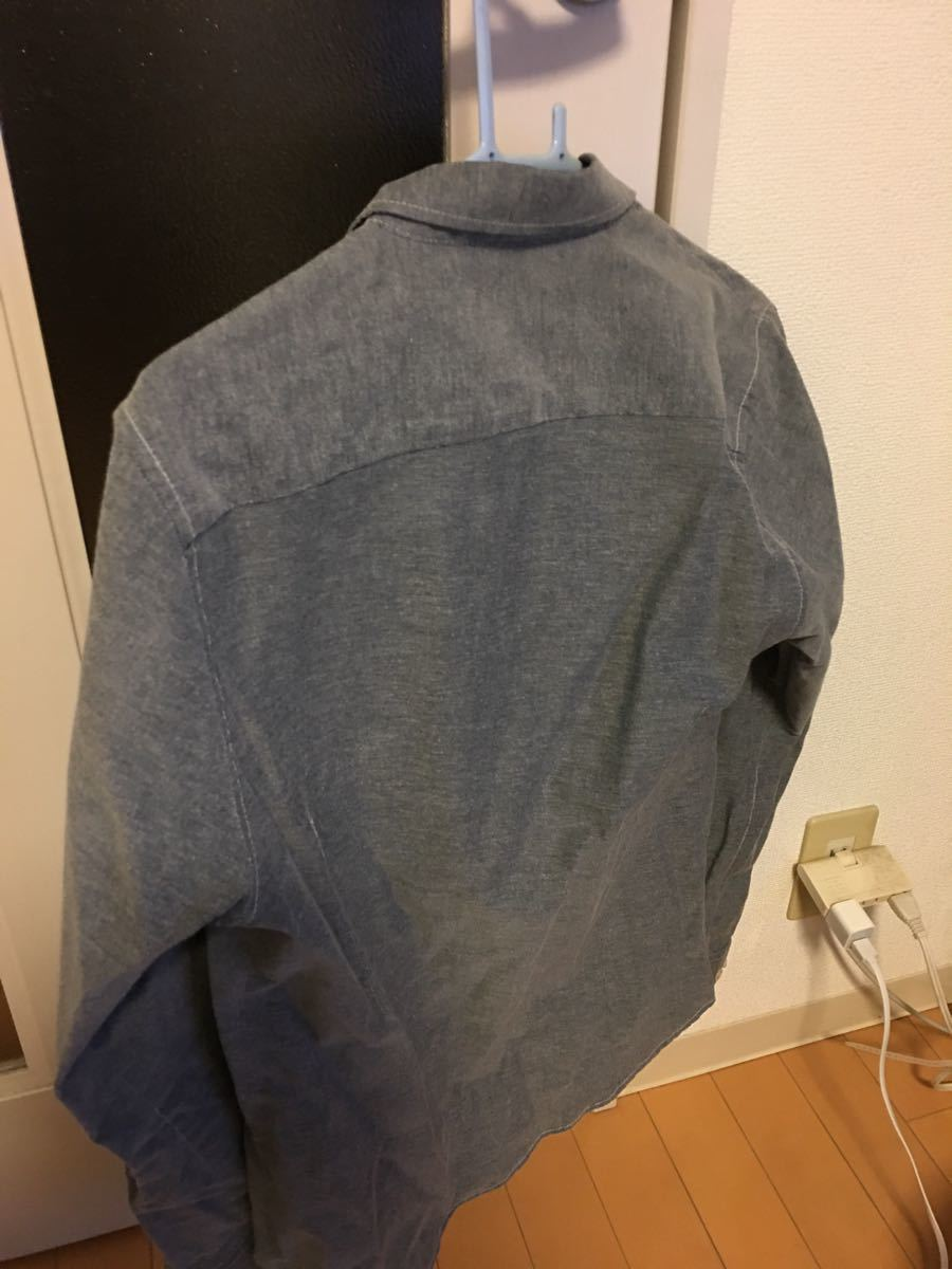 グレー シャツ メンズ 長袖シャツ