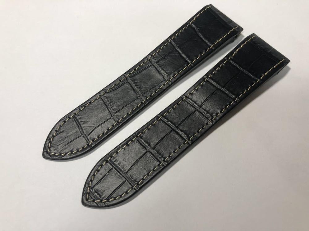 サントス100 レザーベルト バンド 黒 23mm LM cartier カルティエ santos ベルト 革