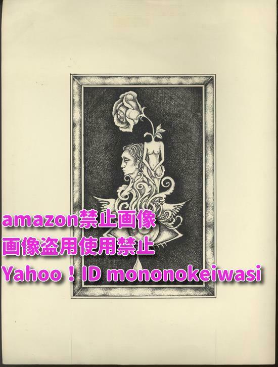 渡辺東 直筆イラスト 偽眼のマドンナ <検索ワード> セル画 複製原画 イラスト 絵画 アンティーク_画像1