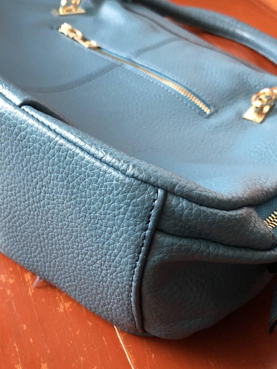 トートバッグ tote bag ショルダーバッグ 2WAY 韓国 レディース ハンドバッグ 美品 ボストンバッグ 水色 エメラルドブルー SHINee buyee