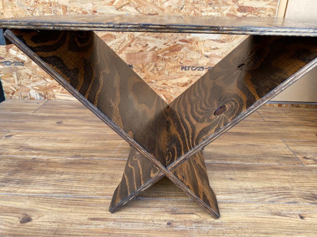 ログラックテーブル ウレタン塗装 こげ茶 #キャンプ#アウトドア#薪#焚き火