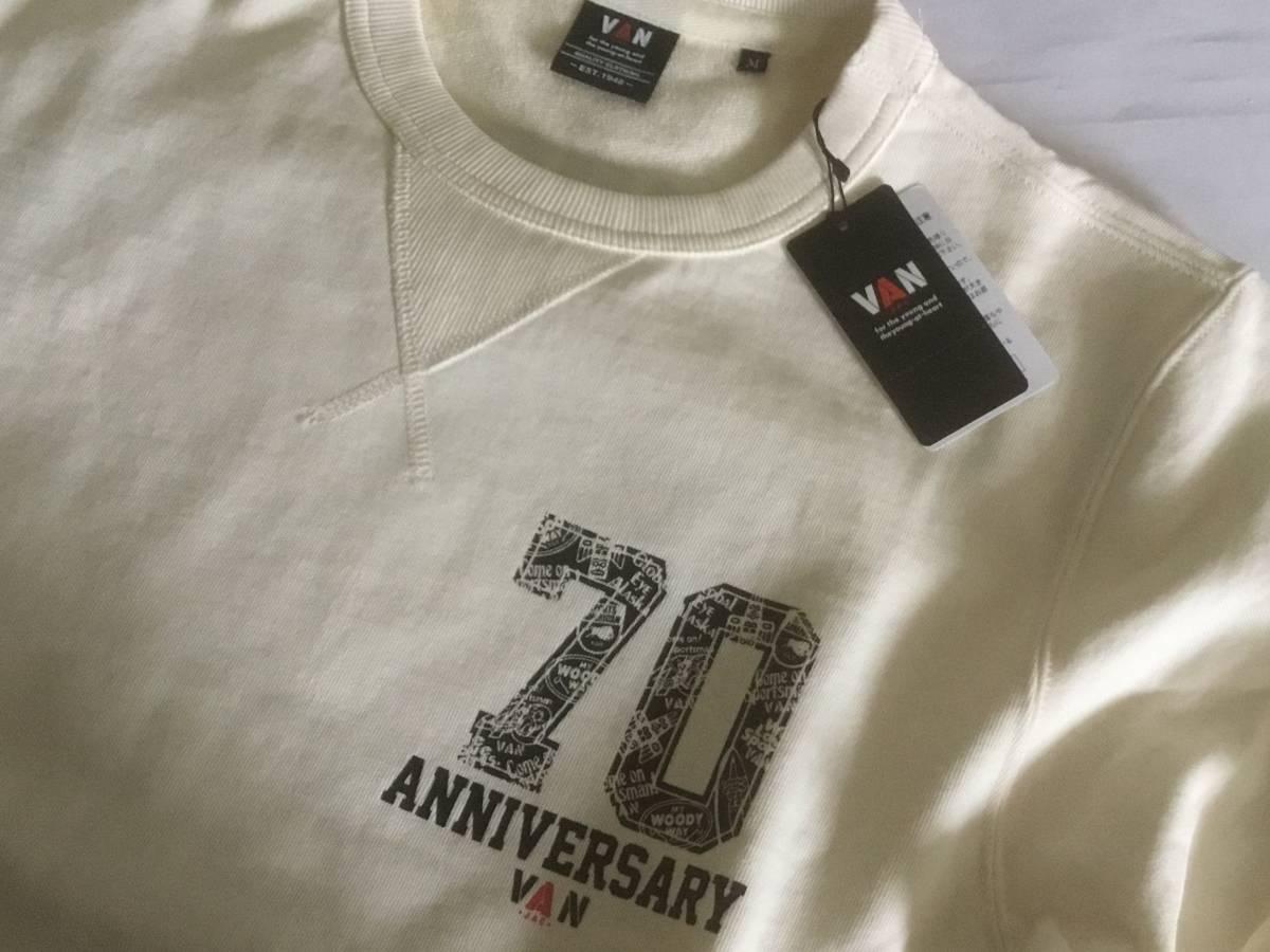送料無料 デッドストック VAN JAC ヴァンヂャケット 70th ANNIVERSARY プレミアムトレーナー 旧VAN JACKET時代の懐かしのキャンペーンロゴ_画像7