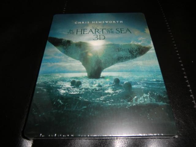 廃盤国内正規未開封新品◆【Amazon.co.jp限定】白鯨との闘い 3D&2D ブルーレイセット スチールブック仕様◆_画像3