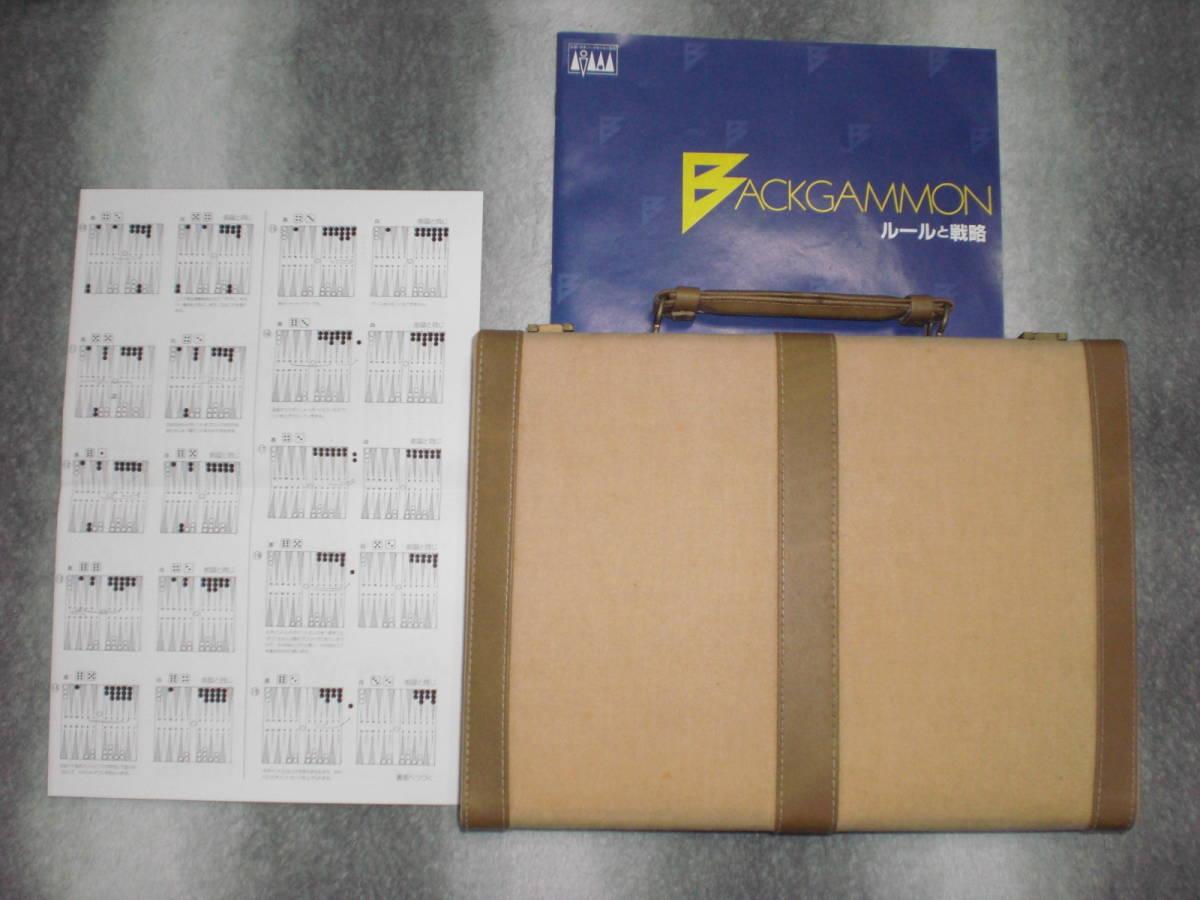バックギャモン BACKGAMMON  1991年物 テンヨー 公認:日本バックギャモン協会_説明書。