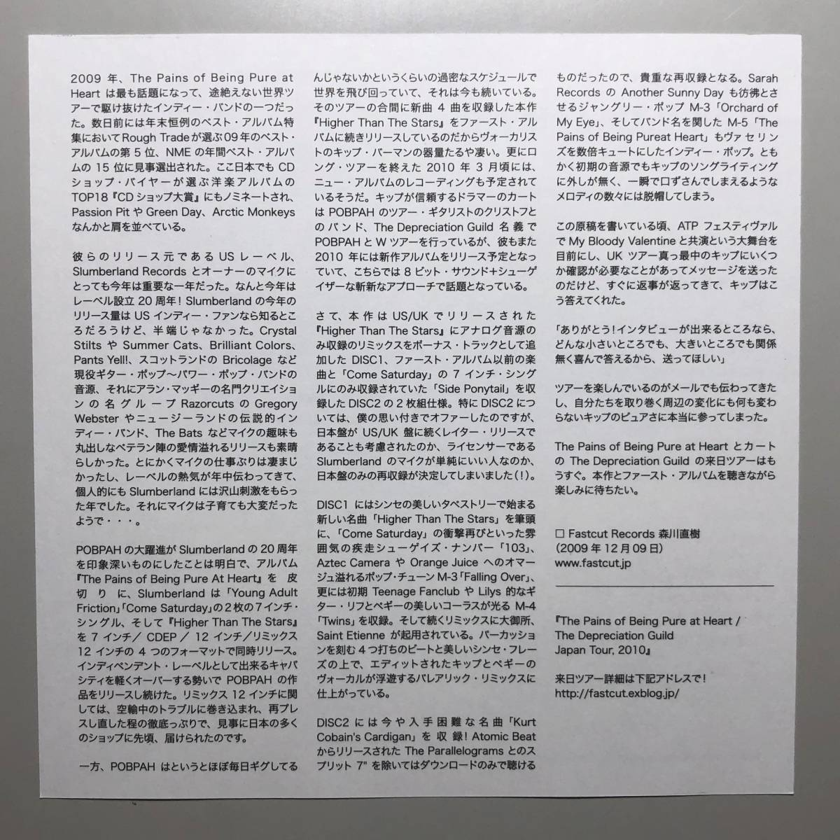 The Pains of Being Pure at Heart - Higher Than The Stars【2枚組CD 日本盤】ペインズ シューゲイザー 国内盤_画像9