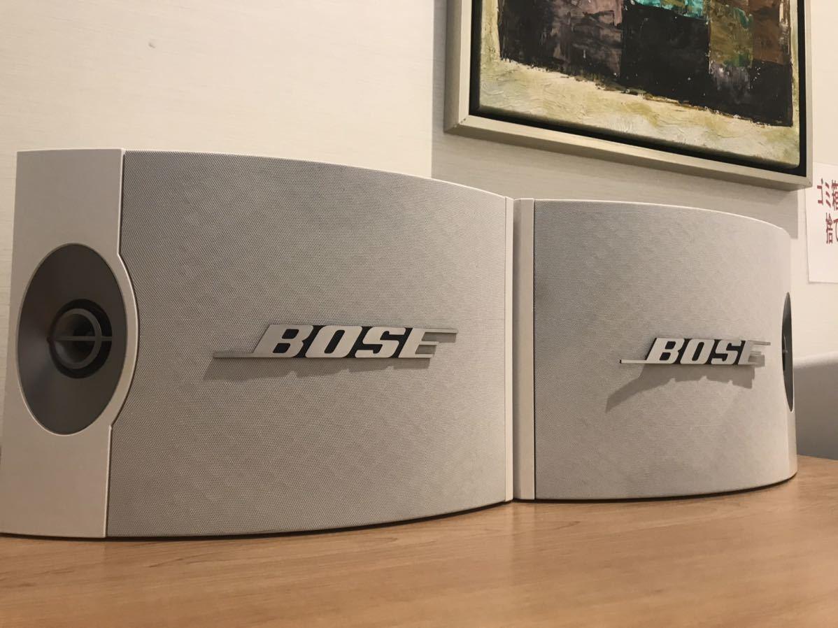 BOSE301V ホワイトペア 純正金具付き
