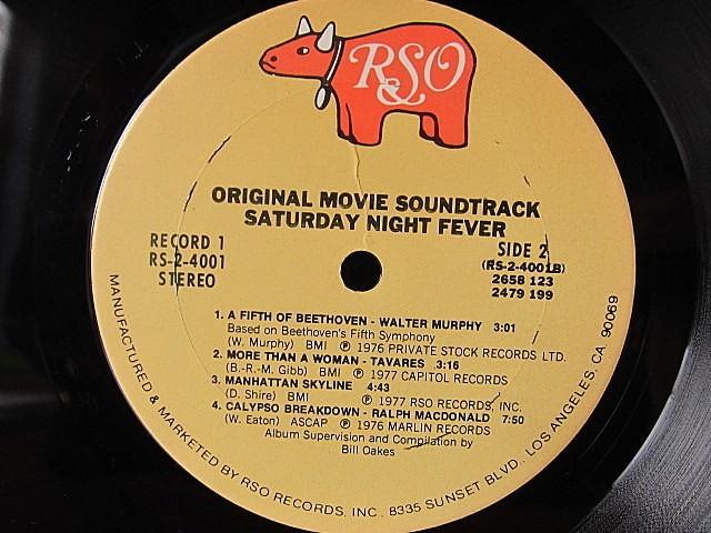 SATURDAY NIGHT FEVER ORIGINAL SOUNDTRACK 2LP RSO RS-2-4001★200519t4-rcd-12-otレコード12インチUS盤米LPサントラ映画_画像4