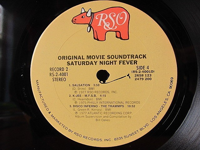 SATURDAY NIGHT FEVER ORIGINAL SOUNDTRACK 2LP RSO RS-2-4001★200519t4-rcd-12-otレコード12インチUS盤米LPサントラ映画_画像6