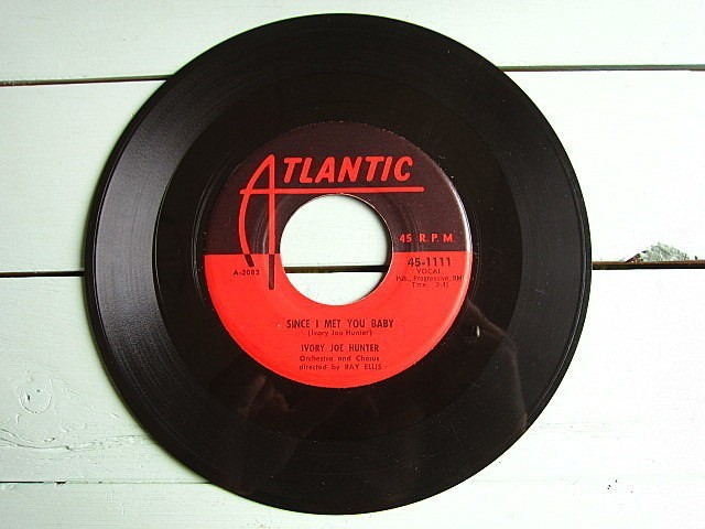 IVORY JOE HUNTER★SINCE I MET YOU BABY/YOU CAN'T STOP THIS ROCKING AND ROLLING★200521t5-rcd-7-fnレコード7インチR&B 50's US盤_画像2