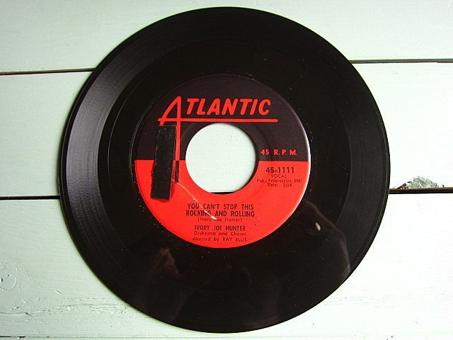 IVORY JOE HUNTER★SINCE I MET YOU BABY/YOU CAN'T STOP THIS ROCKING AND ROLLING★200521t5-rcd-7-fnレコード7インチR&B 50's US盤_画像4