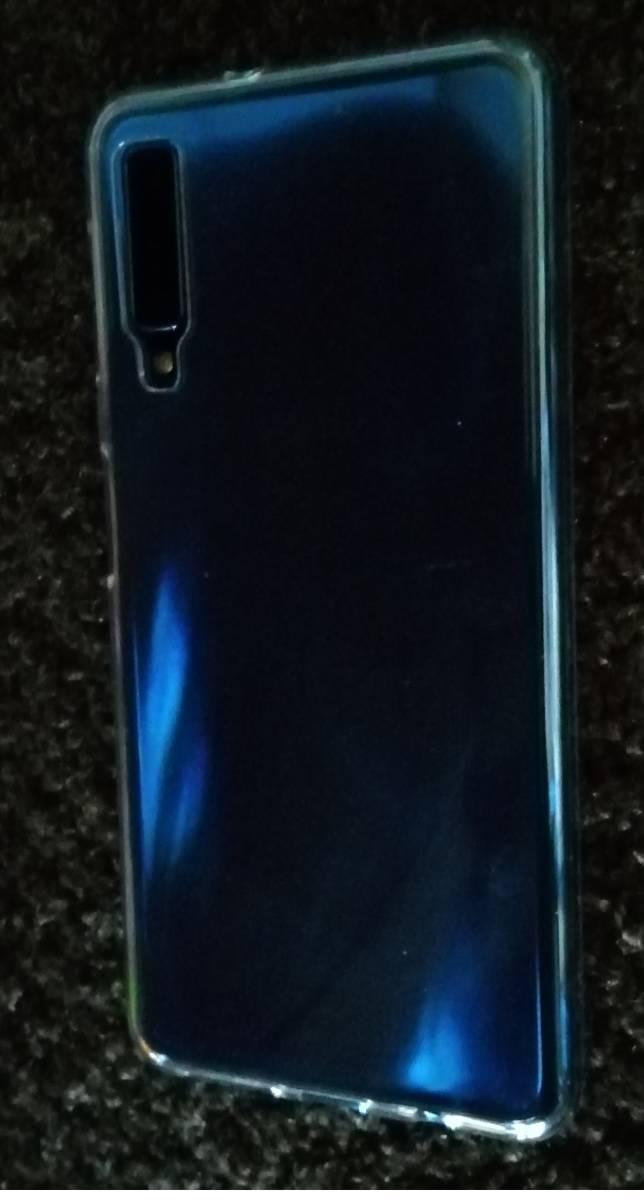 【送料無料/中古】Galaxy A7 SM-A750C ブルー SIMフリー おまけつき 動作良好 _画像3