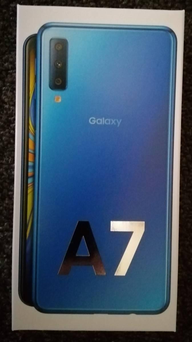 【送料無料/中古】Galaxy A7 SM-A750C ブルー SIMフリー おまけつき 動作良好 _画像1