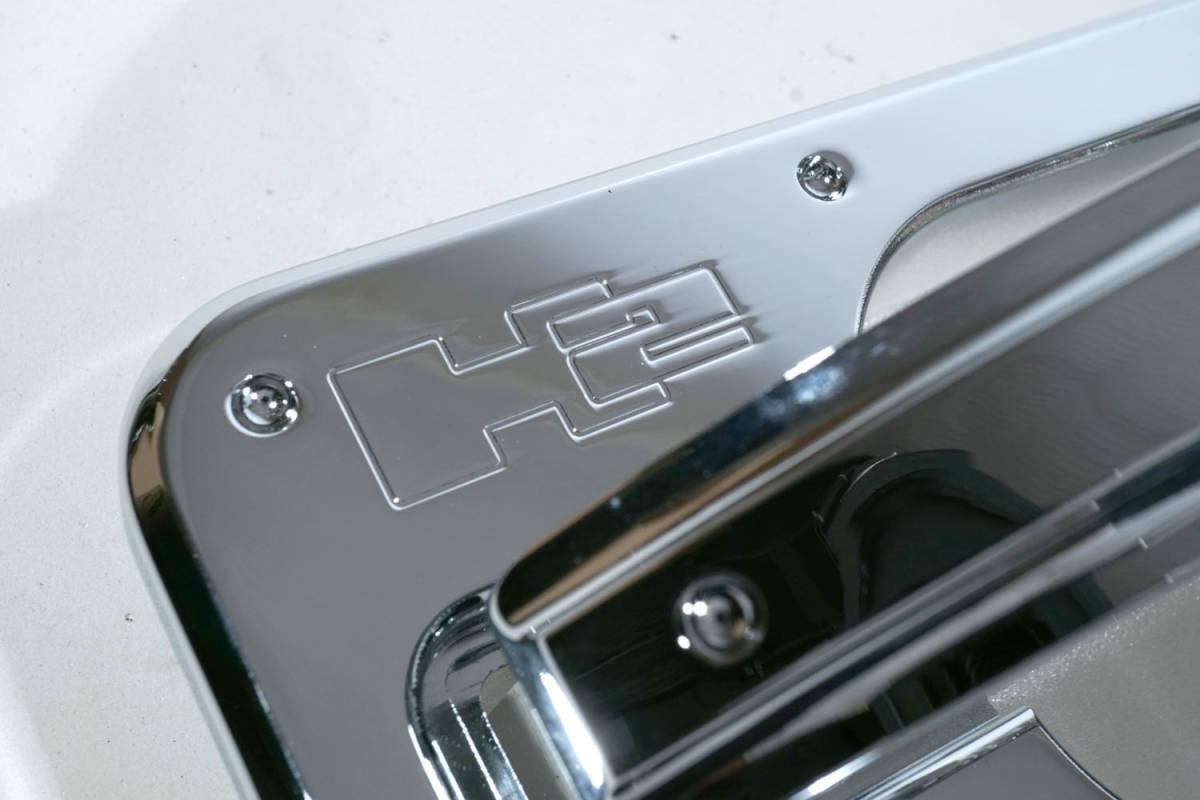 【訳あり】 希少! CODE9 HUMMER ハマーH2 ロゴ入ビレットクローム チョッパードアハンドル&ドアバケット ディンプルタイプ [VK714]_画像3