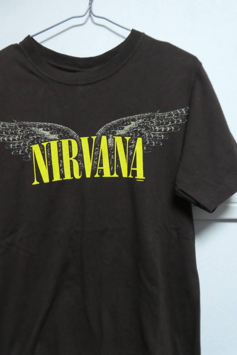00s ニルヴァーナ NIRVANA ヴィンテージバンドTシャツ S ブラウン カートコバーンソニックユーススマッシングパンプキンズ_画像6