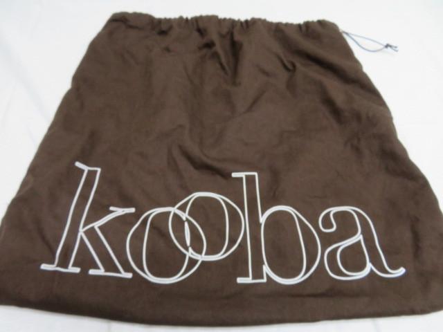 kooba クーバ 2way ショルダーバッグ ブラウン レザー ストラップ着脱可能_画像10