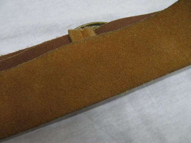 agnes b. アニエスベー スエードベルト ブラウン 長さ85cm 幅5.6cm ウエストマーク_画像4