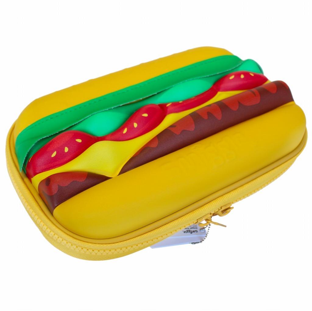 筆箱 ペンケース ハードジップ smiggle スミグル 新品 ハンバーガー型 Blast Fast Hardtop Pencil Case_画像4