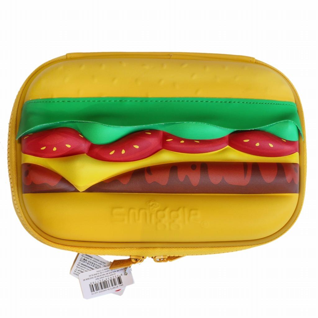 筆箱 ペンケース ハードジップ smiggle スミグル 新品 ハンバーガー型 Blast Fast Hardtop Pencil Case_画像3